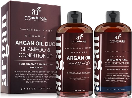 Art Naturals Organic Moroccan Argan Oil Shampoo and Conditioner Set - Best volumizing shampoo