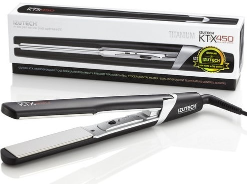 IZUTECH KTX450 LT Titanium Digital Flat Iron - titanium hair straightener iron