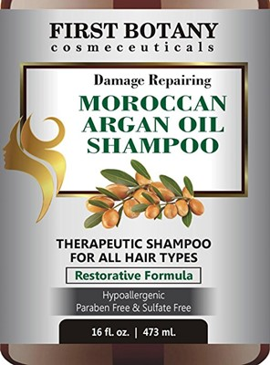 Moroccan Argan Oil Shampoo with Restorative Formula - best natural shampoo for fine hair