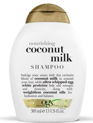 OGX Shampoo, Nourishing Coconut Milk - best strengthening shampoo for fine hair